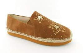 New Michael Kors Size 10 Hastings Brown Suede Espadrilles Studs & Stars Shoes - $44.00