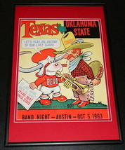1963 Texas vs Oklahoma State Football Framed 10x14 Poster Official Repro  - $32.36