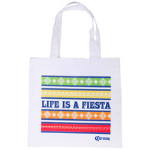 Corona Life Is A Fiesta Tote Bag White - $14.98