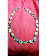 Necklace Natural Healing Stone beaded Jasper Yellows Greens Gift Ideal - $24.75