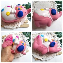 Squishy Pink Elephant Soft Slow Rising Cream Scented Stress Relief Kids Girl Toy - $6.64
