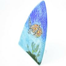 Fused Art Glass Swimming Sea Turtle Nightlight Night Light Handmade Ecuador image 3