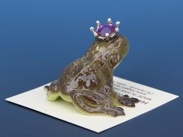 Birthstone Frog Prince Kissing October Tourmaline Miniatures by Hagen-Renaker image 3