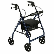 Drive Medical Rollator Walker with Fold Up and Removable Back Support[Blue] - $142.98+
