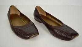 Bottega Veneta Flats Ballet Brown Leather Shoes 37 Italy - $346.38
