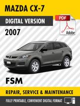 2007 MAZDA CX-7 FACTORY SERVICE REPAIR MANUAL / WORKSHOP MANUAL OEM - $9.90
