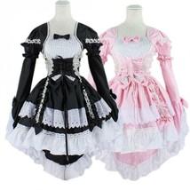 Japan Ruffle Fancy Lolita Princess Dress Maid Outfit Anime Cosplay Costu... - $31.99