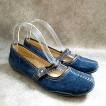 Naturalizer Womens Calva  Size 8.5 Blue  Leather Slip On Mary Jane Flats - $19.99
