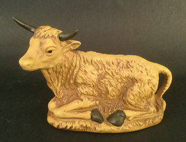 Vintage Fine Porcelain Yellow Asian Cow Figurine Made In Thailand - $32.26
