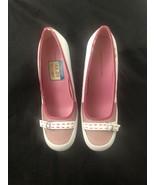 Tommy Hilfifer Womens Pink White High Heels 9 - $39.59