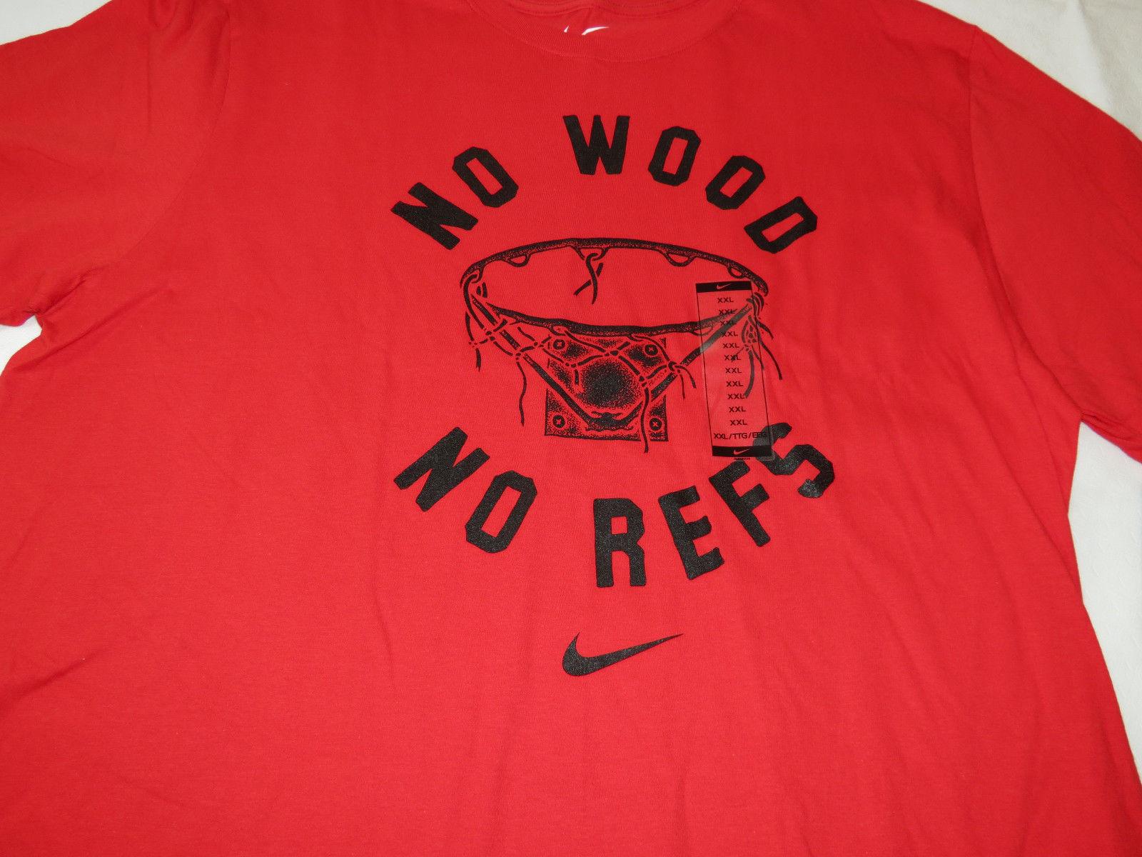 Nike Mens The Nike Tee Athletic cut XXL AH3208 657 red No Wood training t shirt