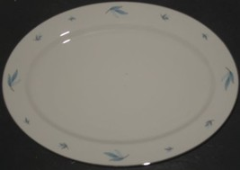 Vtg Syracuse China Celeste White Blue Silver Oval Serving Meat Platter R... - $18.81