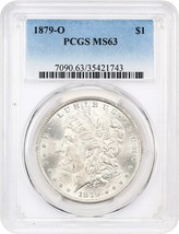 1879-O $1 PCGS MS63 - Morgan Silver Dollar - $276.45