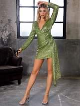 Draped Detail Sequin Bodycon Dress - $61.99