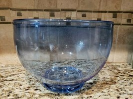 large mixing bowl serving bowl vintge signed William Yeoward,  havey blu... - $159.99