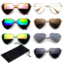 Heart Sunglasses Womens Retro Vintage Festival Fashion Sunglasses CASE - $6.75+