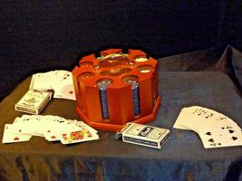Porker Chips Holder and Card Game AA19-1666 Vintage image 4