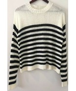 Nordstrom BP Sweater Sweatshirt Size Medium Pullover Striped U.S. Made Knit - $24.75