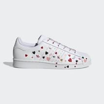 Neu Original Adidas Damen Original Superstar Schuhe Weiß Leder Turnschuhe - $172.35