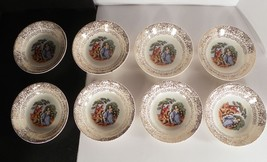 Cronin China Colonial Courting Couple Dinnerware Berry Bowl (s) LOT OF 8... - $17.77