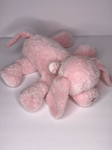 "Primary image for Baby Gund 11"" Puppy Puddles Pink & White Puppy Dog Plush Lovey #58008"