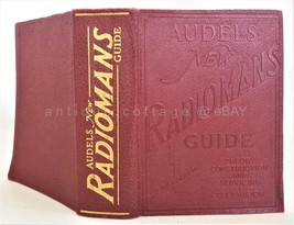 1942 AUDELS NEW RADIOMANS GUIDE BOOK radio television repair 756pg - $67.95