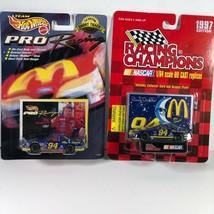 Lot 2 McDonalds Hot wheels & Racing Champions 1997 Edition #94 Bill Elli... - $12.86