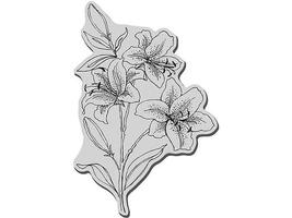 Stampendous Star Lilies Rubber Cling Stamp #CRP115