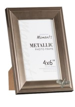 Flying Bobwhite Pewter Emblem on PICTURE FRAME SILVER 6X4 Hang/Stand cod... - $23.43