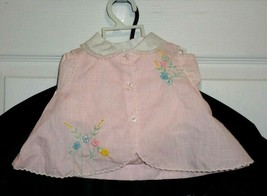Vintage Never Worn 2 Pc Infant Baby Girl or Doll Dress Top & Diaper Cove... - $12.50
