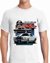 1965, 66, 69 Ford Mustang Shelby Cobra T Shirt - White - $30.95+