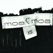 Moa Moa Women's Black Raw Tattered Hem Ribbed Knit Tank Top Size XS image 3