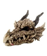PTC 26 Inch Large Dragon Skeleton Skull Mystical Statue Figurine Multi C... - $158.39