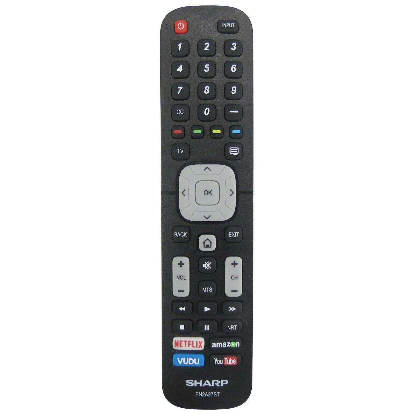 Sharp EN2A27ST *MISSING BATTERY COVER* Factory Original TV Remote LC-32Q5230U - $9.58