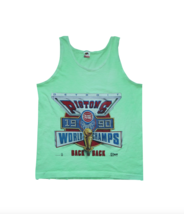NOS Vintage 90s Mens M Detroit Pistons Back to Back World Champs Tank To... - $39.55