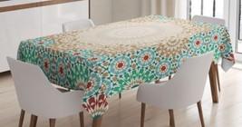 Geometric Mandala Tablecloth Circle Floral Sun Dining Table Linen Cover ... - $34.29