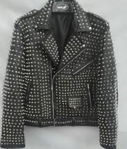 New Design Mens Punk Style Studded Leather Jacket Fashion Real Leather Jacket - $174.42+