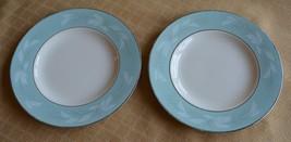 5 aqua Homer Laughlin Cavalier Romance G58N5  bread & butter plates dishes - $9.65