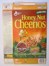 Empty Cereal Box 1997 HONEY NUT CHEERIOS The Lost World JURASSIC PARK Se... - $25.27