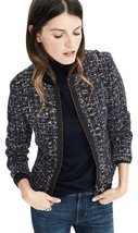 Banana Republic Tweed Collarless Size 14 Nwt Navy Jacket - $150.00
