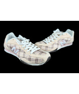 New Balance 442 Women's CW442TC Peach Pink Plaid Walking Shoes Size 6.5 - $29.89