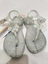 NEW Gymboree Silver Glitter Sparkle Jelly Sandals Size 2-3 - $21.99
