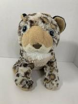 Wild Republic gray leopard plush spots stuffed animal toy bean pellets - $5.93