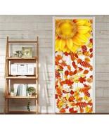 3D flower leaf Door Wall Mural Photo Wall Sticker Decal Wall AJ WALLPAPE... - $74.79+