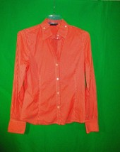 BCBGMax Azria multicolor cotton blend striped long sleeve button down sh... - $10.00