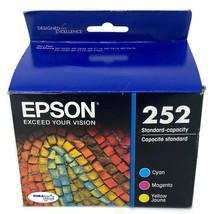 Genuine Epson 252 Ink Cartridge Cyan Magenta Yellow T252520 Exp.7-2023 SEALED - $23.14