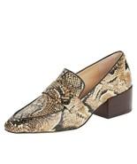 Vince Camuto Adealia Leather Snake Print Block Heel Slip On Loafers 6.5 ... - $39.99