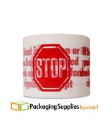 "(12 ROLLS) Printed Packing STOP SIGN LOGO 3"" x 110 yds 2 mil Carton Seal... - $27.31"
