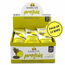 Amrita Foods - Top 14 Allergy Free, Pineapple Chia Protein Bar, Pack of ... - $39.10