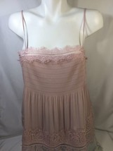 Express Women Blouse Tank Top Pink Sleevess   Exclusive  Of DecrationSize M - $25.25
